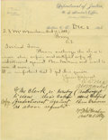 Western Expansion:Cowboy, Autograph Letter Signed by U. S. Marshall E. D. Nix, OklahomaTerritory, 1895....
