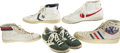 Basketball Collectibles:Uniforms, Late 1970's NBA Superstars Game Worn Sneakers Collection with DavidThompson, Lanier. From the same long-serving (1972-82) ...