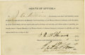 """Western Expansion:Cowboy, Autograph Document Signed by Isaac """"Hanging Judge"""" Parker, 1890...."""