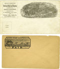 Western Expansion:Goldrush, Lot of Two Stagecoach Envelopes, ca. 1860s-1870s.... (Total: 2Items)