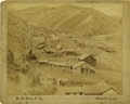 "Western Expansion:Goldrush, Imperial Size Birdseye View Photograph of ""Gayville & BlackPail Gulch, South Dakota,"" 1890s. ..."