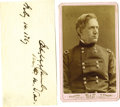 Western Expansion:Indian Artifacts, Photograph & Clipped Signature of Gen. Edward Canby, Killed inthe Modoc Indian Wars, 1873. ... (Total: 2 Items)