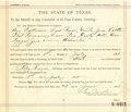 Western Expansion:Cowboy, State of Texas Subpoena Summons Dave Pig, Curly Bill, One LeggedBill, etc., 1895....