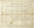 Autographs:U.S. Presidents, Document Signed President R. B. Hays Appointment Mescalero Apache Indian Agent 1878....