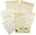 Western Expansion:Indian Artifacts, Lot of Seven Indian Agency Documents ca 1881-1893.... (Total: 7Items)