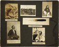 Western Expansion:Indian Artifacts, Lot of Twelve Related Mounted Photographs of the Mankato, MinnesotaMassacre, 1862 .... (Total: 2 Items)