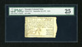 Colonial Notes:Georgia, Georgia September 10, 1777 $1/2 PMG Very Fine 25....