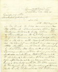 Western Expansion:Cowboy, Mining Letter Colorado Territory Central City, C. T. (ColoradoTerritory), 1864....