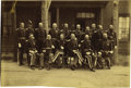 Photography:Cabinet Photos, Imperial Size Photograph of Officers at Fort Sidney, Nebraska, ca.1880s....