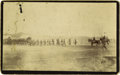 Military & Patriotic:Indian Wars, Cabinet Card Photograph, 21st Infantry Moving from Fort Randall ca. 1892....