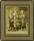 "Western Expansion:Indian Artifacts, Imperial Size Photograph of Three ""Nez Perce/Umatilla IndianChiefs,"" ca. 1890s...."