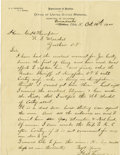 "Western Expansion:Cowboy, Autograph Letter Signed ""Heck Thomas,"" Horse Thief fromOklahoma Territory, 1900...."