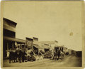 Western Expansion:Cowboy, Imperial Size Photograph: Great Street Scene, Sturgis, Dakota, ca.1890. ...