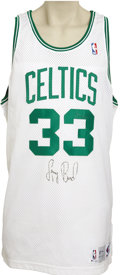 Basketball Collectibles:Uniforms, 1991-92 Larry Bird Game Worn Jersey. A thirteen-season Hall of Famecareer came to an end the season the great Larry Bird hi...