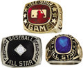 Baseball Collectibles:Others, 1975, 1978 & 1985 All-Star Game Rings. Trio of rings comes toHeritage from the collection of Dick Butler, who earned them ...
