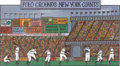 "Baseball Collectibles:Others, ""The Polo Grounds"" Original Artwork by Glaubach...."