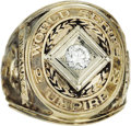 Baseball Collectibles:Others, 1982 World Series Umpire Presentational Ring. It may seem like umpire's get nothing but abuse, but here's proof to the cont...