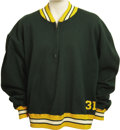 Football Collectibles:Uniforms, 1966 Green Bay Packers Game Worn Sideline Jacket Attributed to JimTaylor. Jim Taylor will always be renowned as the Packer...