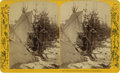 Western Expansion:Indian Artifacts, Large Format Stereoview Sioux Indian at St. Paul Carnival 1888....
