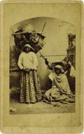 Western Expansion:Indian Artifacts, Large Format Photograph of Arizona Indians with Burden Baskets, ca.1880....