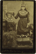Western Expansion:Indian Artifacts, Cabinet Card of Seneca Indian Lady and Baby in Papoose, Ca.1890s....