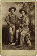 "Western Expansion:Cowboy, ""Whittick"" Photograph of Two Armed Full Dressed Scouts, ca.1880s-1890s. ..."