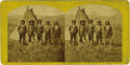 "Western Expansion:Indian Artifacts, Stereoscopic View of Group of Indians, ""Snake Chiefs,"" ca. 1860s...."