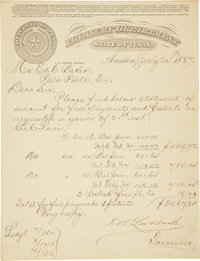 Mixed Lot of Signatures of Texas Military and Political Leaders