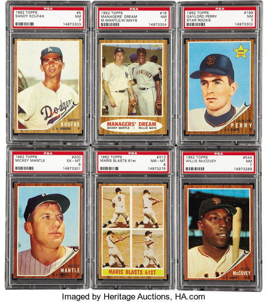 1962 Topps Baseball Complete Set 598 A Very Tough Issue Due To
