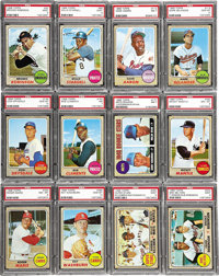 1968 Topps Baseball High Grade Complete Set (598). This set contains the rookie cards of the flame throwing Nolan Ryan a...