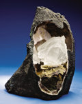 Minerals:Museum Specimens, GEODE WITH WATER CLEAR GYPSUM CRYSTALS. ...
