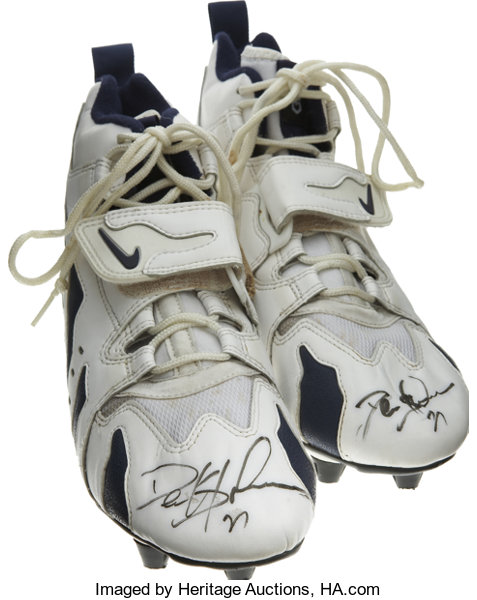 pick up ba03a 85b79 Each of this  Football Collectibles Uniforms, Deion Sanders Game Worn and  Signed Cleats.