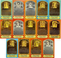 Autographs:Post Cards, Baseball Hall of Famers Signed Plaque Postcards Group Lot of 14. A total of 14 Hall of Famers have each signed top-quality...
