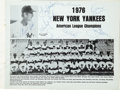 Autographs:Others, 1977 New York Yankees vs. University of North Carolina Team Signed Program. Several members of the 1977 New York Yankees, w...