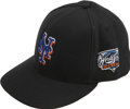 Baseball Collectibles:Hats, 2000 Mike Piazza World Series Game Worn Cap. Few baseball fans will forget the 2000 Subway Series that pitted the New York ...