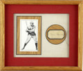 Autographs:Letters, Rogers Hornsby Cut Signature Display. Attractive display has as its focus a cut signature from the Hall of Fame legend Roge...