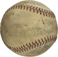 "Autographs:Baseballs, Carl Mays Single Signed Baseball. Nicknamed ""Sub"" for his throwingmotion, Mays enjoyed a 11 year major league career. The ..."