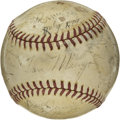 Autographs:Baseballs, 1939 Brooklyn Dodgers Team Signed Baseball. The 1939 BrooklynDodgers, managed by the legendary Leo Durocher finished third...