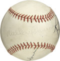 "Autographs:Baseballs, Walter Johnson Signed Baseball. Walter ""The Big Train"" Johnson set many modern day pitching records that stood for more tha..."