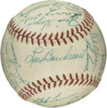 Autographs:Baseballs, 1949 Cleveland Indians Team Signed Baseball. Thirty-one members ofthe 1949 Cleveland Indians team added signatures to the ...