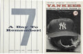 Autographs:Letters, Mickey Mantle Day Program, Button, Game Program, Cut Signature .June 8, 1969 was deemed Mickey Mantle Day at Yankee Stadiu...