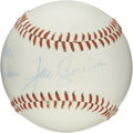 "Autographs:Baseballs, Joe Cronin Single Signed Baseball. Personalized single signedbaseball from the Hall of Fame Yankee manager reads ""To Mark,..."