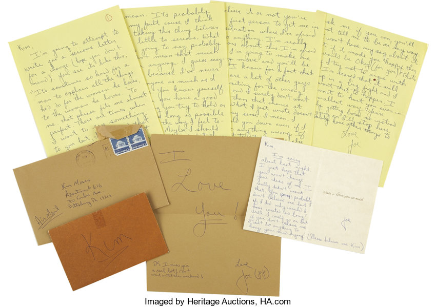 Football CollectiblesOthers Early 1970s Joe Montana Handwritten Love Letters To Girlfriend Lotof 3