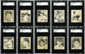Baseball Cards:Sets, 1948 Bowman Baseball Complete Set (48). The Bowman company throws its hat into the ring with its premier set, and one of the...
