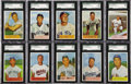 Baseball Cards:Sets, 1954 Bowman Baseball SGC Graded Partial Set (72/224) . Every card has been graded by SGC. A total of 72 cards including Hal...