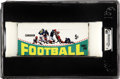 Football Collectibles:Others, 1964 Topps Canadian Football League Full Box GAI Mint 9. Complete original unopened 36-count wax box of 1964 Topps Canadian ...
