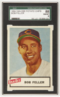Baseball Cards:Singles (1950-1959), 1954 Dan-Dee Potato Chips Bob Feller SGC 88 NM/MT 8. Bob Fellerwent 13-3 and bolstered a strong pitching staff that led the...