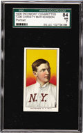 Baseball Cards:Singles (Pre-1930), 1909-11 T206 Christy Mathewson, Portrait SGC 84 NM 7. In 1936,Christy Mathewson joined Babe Ruth, Honus Wagner, Ty Cobb and...