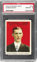 Baseball Cards:Singles (Pre-1930), 1915 Cracker Jack Connie Mack #12 PSA NM-MT 8. Over the course of ahalf century, the Philadelphia Athletics captured five W...