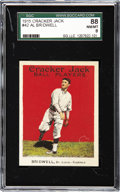 Baseball Cards:Singles (Pre-1930), 1915 Cracker Jack Al Bridwell #42 SGC 88 NM/MT 8. It was AlBridwell's single against the Chicago Cubs which caused the cruc...